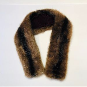 Faux fur neck wrap collar accent Warmer